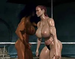 fpz3d m Vs g Catfight Toon Faustkampf girlfight